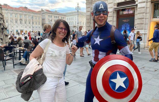 Una video-chiamata con il super-eroe preferito, iniziativa per rilanciare il commercio a Trieste